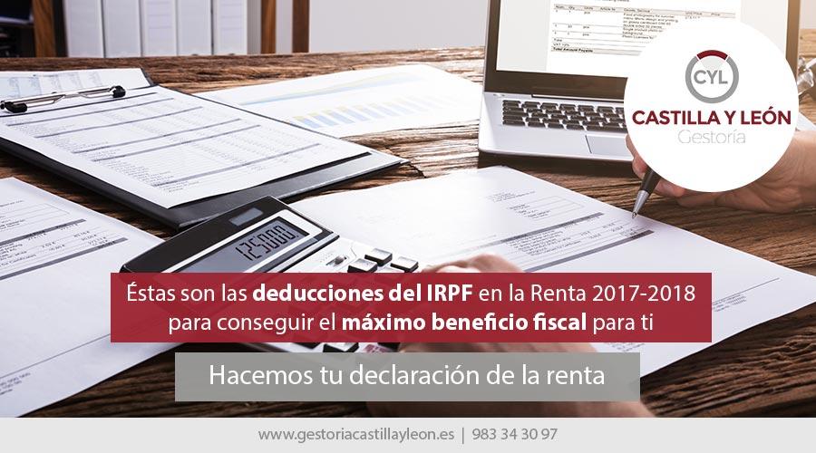 deducciones fiscales en la renta 2017-2018