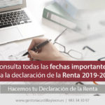 Calendario de la Renta 2019-2020