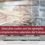 Complementos salariales del trabajador