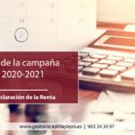 Calendario de la Renta 2020-2021
