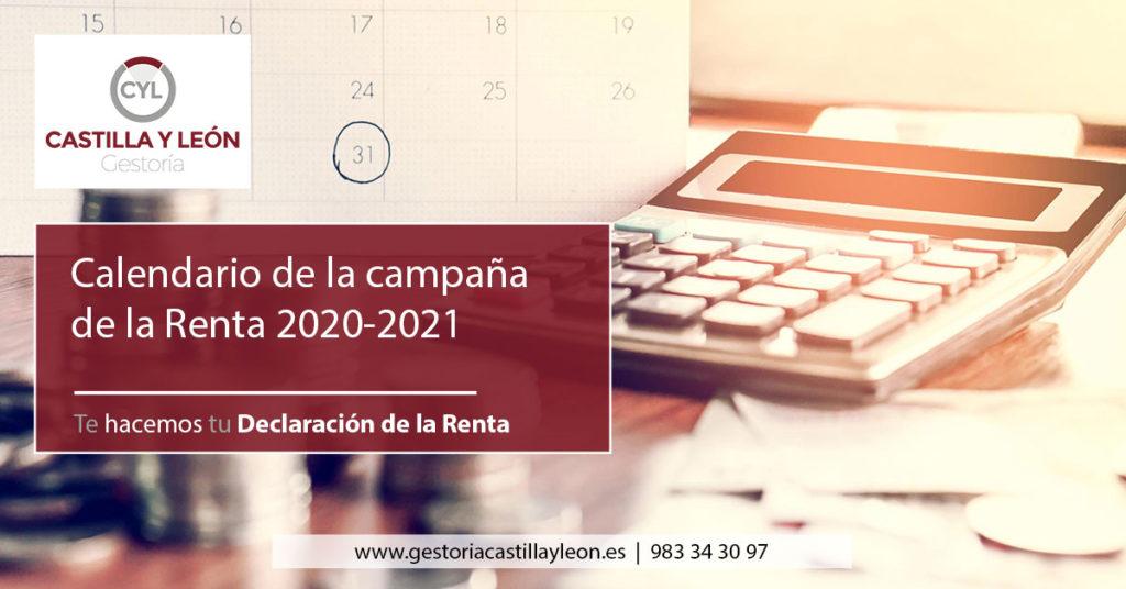 Calendario de la Renta 2020 2021